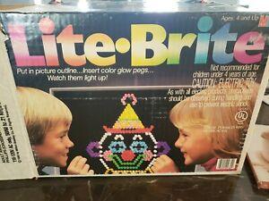 Vintage Lite Brite Board, Box, Templates and Bulbs