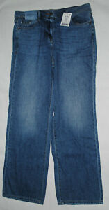 Ladies NEXT Blue Wideleg Mid Rise Jeans Size 10R RRP £30 Brand New with Tags