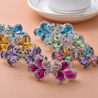 Butterfly Crystal Hair Clip Headwear Sharped Hairpins Knot Rhinestone Bow