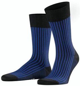 Falke Mens Oxford Stripe Socks - Black/Blue