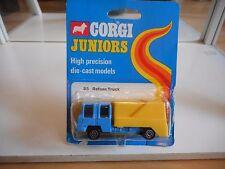 Corgi Juniors Refuse Truck in Blue/Yellow on Blister