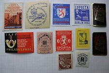 Germany lot Philatelic Exhibition ad label Interposta Iposta KUBRIA LUPOSTA