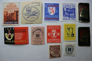 Germany lot Philatelic Exhibition ad label Interposta Iposta KUBRIA LUPOSTA