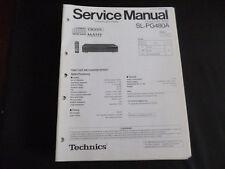 Original Service Manual Technics SL-PG480A