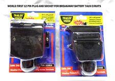 12 PIN TRAILER PLUG & SOCKET Suit AUX SYSTEMS CARAVANS