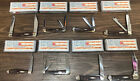 Case XX Chocolate Brown Red Richlite Smooth Lot of 8 Set Pocket SS Blade Knives