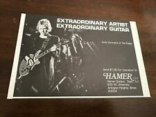"1980 Vintage 8.25""X5.5"" Print Ad For Hamer Guitars Andy Summers Of The Police"