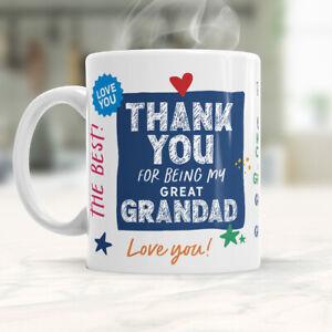 Great Grandad Gift Mug Present Keepsake Love Novelty Cup For Birthday Christmas