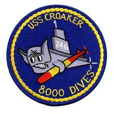 USS CROAKER SS-246 Gato-Class Submarine 8000 DIVES Militray Patch