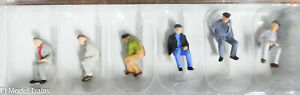 Preiser HO #14084 Working People -- Seated Workers / NEW / HO Scale