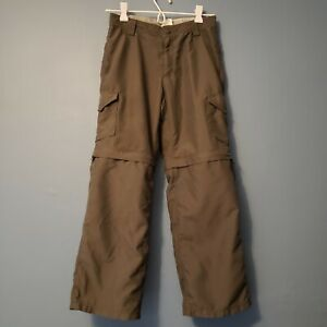The North Face Boys Convertible Lightweight Hiking Pants Gray Size M (8-10) VGUC