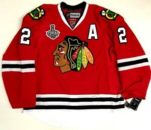 DUNCAN KEITH CHICAGO BLACKHAWKS 15 CUP CANADA EDGE AUTHENTIC REEBOK JERSEY 7287A