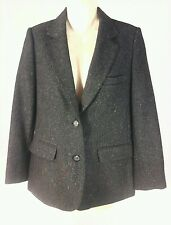 NORDSTROM Town Square WOMENS WOOL BLAZER JACKET gray/speckled VTG SZ 8 Petite