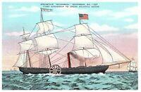 "Steamship ""Savannah"" First Steamship to Cross the Atlantic Ocean Postcard"