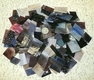 Mosaic glass tiles - 3 LB PURPLE TONE Mixed Value Pack - Stained Glass