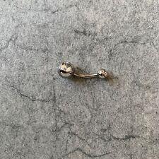 1,6 mm Bauchnabelpiercing Titan 10 mm