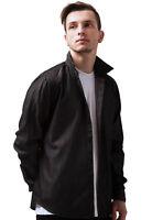 Black Denim Mens Shirt 100% Organic Cotton Long Sleeve Classic Smart Casual Gift