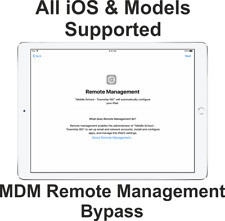 Apple iPad iPhone Remote Management Profile Bypass MDM Lock iPhone XR XS 13.4