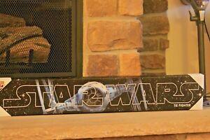 "STARWARS ORIGINAL TIE FIGHTER CLASSIC SHIP CANVAS 36"" X 6"" WOOD BACK FULL WRAP"