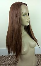 ginger red straight 3/4 half head long hair wig half cap fancy dress party new
