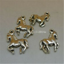 15pc Tibetan Silver horse Charm Beads Pendant accessories Findings PL568