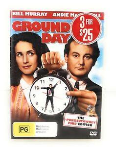 Groundhog Day (DVD, 1993) BIll Murray Region 4 Free Postage