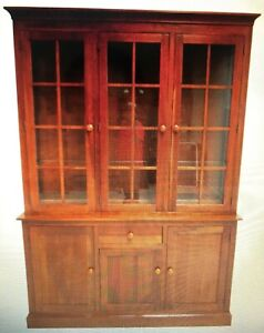 Ethan Allen Mission American/Impress Cherry China Cabinet Breakfast Front Hutch