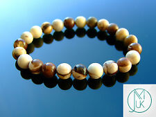 Australian Zebra Jasper Natural Gemstone Bracelet 7-8'' Elasticated Healing