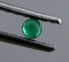 3.5mm ROUND CABOCHON NATURAL UNTREATED COLOMBIAN EMERALD PERFECT GREEN
