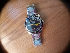 VINTAGE LOOK MENS WATCH DIGITAL , OYSTER TYPE STRAP BLACK BAY  DIVER STYLE CASE