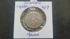 Netherlands 1957 silver 1 Gulden with Queen Juliana coin.