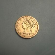 Rare Date 1857-S Gold $5 Liberty Head Half Eagle Coin ~ Pre Civil War Date ~