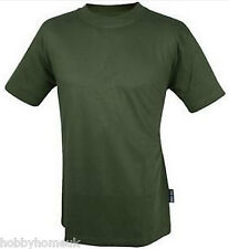 WEB-TEX OLIVE GREEN TEE T-SHIRT QUALITY PLAIN BRITISH ARMY MILITARY CAMO