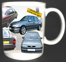 VAUXHALL CAVALIER MK3 CLASSIC CAR MUG LIMITED EDITION. PERSONALIZE FOR FREE