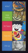 GB QE2 SMILERS SHEET 2001 SMILES LS5 strip 5 + labels