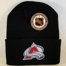Colorado Avalanche NHL Vintage Cuffed Knit Hat Logo 7 Black