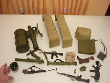 Vintage Lot Mac Toy Centre - Military Army Accessories - Shelter Gun Rifle Armor