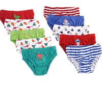 Boys Kids 5 Pack Briefs Shorts Underwear Classic Design School 3/4 5/6 7/8