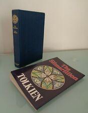 1977 JRR Tolkien The Silmarillion Quenta Valaquenta Beleriand MAP DJ 1st Edition