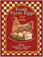 Fresh Farm eggs, Vintage Advert Cafe Kitchen Chicken Shop, Novelty Fridge Magnet
