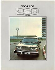 Volvo 260-Series 1978-79 UK Market Sales Brochure 264 262C 265 GL GLE