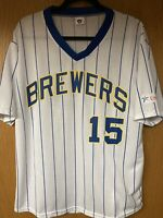 Milwaukee Brewers Jersey #15 Cecil Cooper size adult L/XL SGA