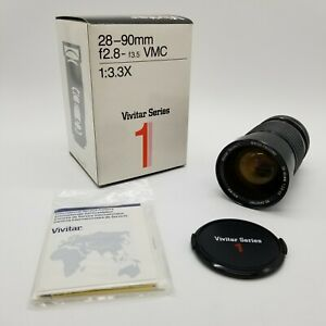 Vivitar Series 1 28-90mm Auto Variable Focusing Lens For Canon In Box w/ Manual