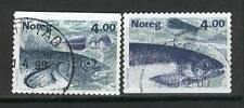 Norway Q34 used 1999 Fishing salmon 2v