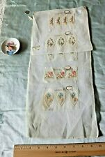 Rare Antique c1920 Swiss Hand Embroidery Floral Applique Inserts 20 Pieces~Dolls