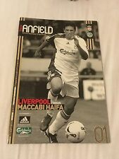 Liverpool V Maccabi Haifa 2006 champions league programme