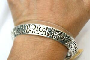 NWT Authentic Brighton Deco Silver Bangle Bracelet $68