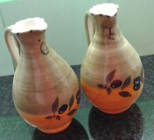 Italienische Keramik Service Olive Handgemalt - Öl- und Essigflasche