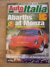 Auto Italia magazine Oct 00 Abarth Bialbero Allemano Lamborghini Diablo Fiat 124