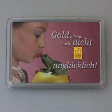 1 Gramm Gold 999,9 + Zertifikat ► 1g Goldbarren ► Geschenk Prinz Frosch Kuss